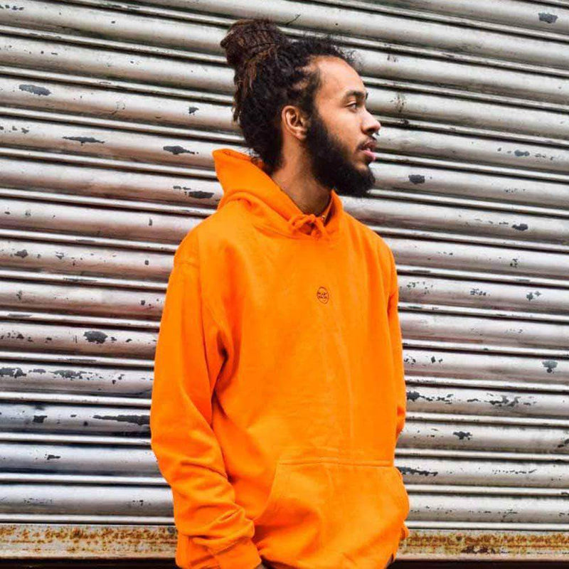 PLANT FACED CLOTHING: Hoodies - The Classics Hoodie - Embroidered Logo - Alarm Orange, Vegan Clothing
