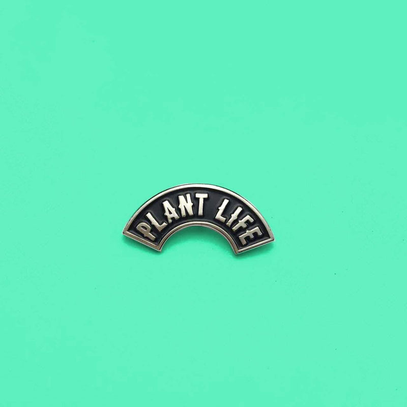 PLANT FACED CLOTHING: Pins - Plant Life 100% Recycled Metal Lapel Pin, Vegan Clothing