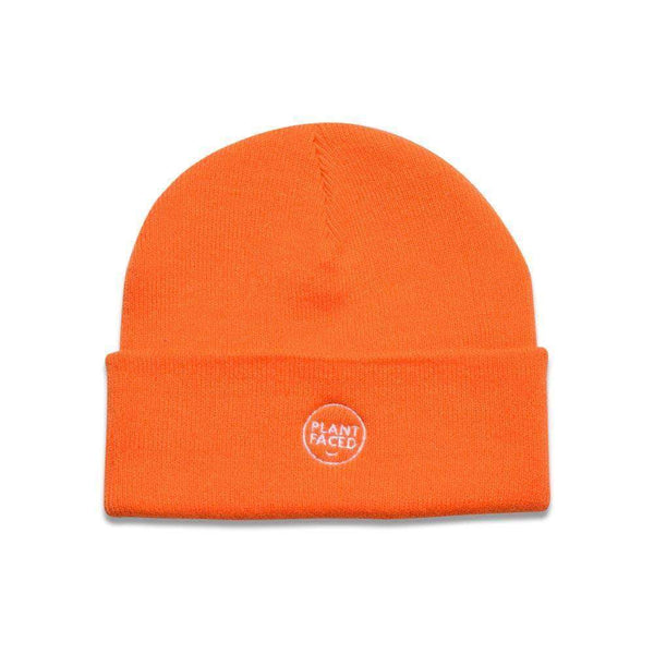 PLANT FACED CLOTHING:  - Plant Faced Beanie - Alarm Orange, Vegan Clothing