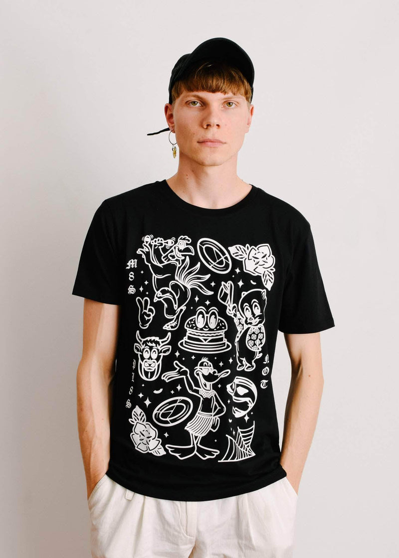 PLANT FACED CLOTHING: T-Shirts - M8S NOT PL8S Tee - Black - 100% Organic Cotton, Vegan Clothing