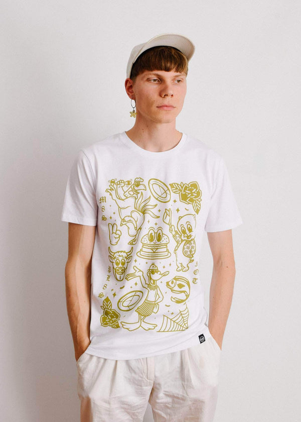 PLANT FACED CLOTHING: T-Shirts - M8S NOT PL8S Tee - White - 100% Organic Cotton, Vegan Clothing