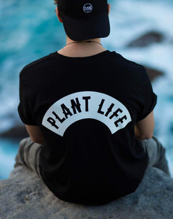 PLANT FACED CLOTHING: T-Shirts - Plant Life Classic - Black - 100% Organic Cotton T-Shirt, Vegan Clothing
