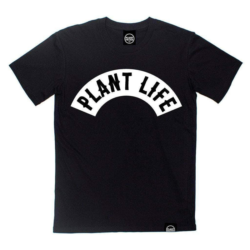 PLANT FACED CLOTHING: T-Shirts - Plant Life Classic - Black *NEW* - 100% Organic Cotton T-Shirt, Vegan Clothing