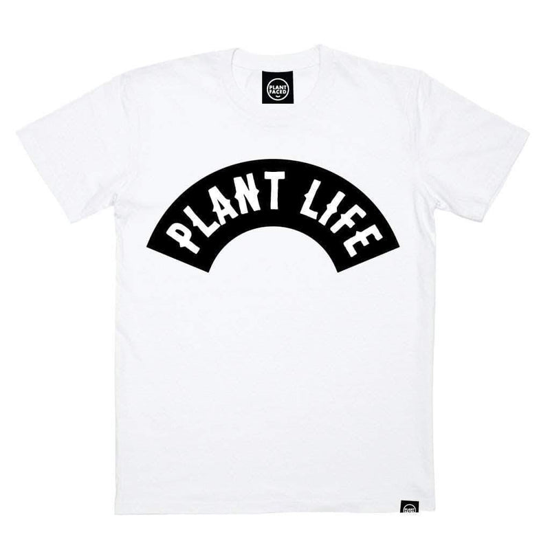PLANT FACED CLOTHING: T-Shirts - Plant Life Classic - White *NEW* - 100% Organic Cotton T-Shirt, Vegan Clothing