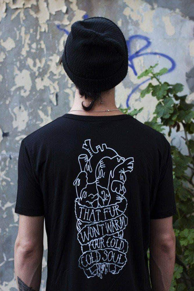 PLANT FACED CLOTHING: T-Shirts - Soulless Double Side - Black - 100% Organic Cotton T-Shirt - Unisex, Vegan Clothing