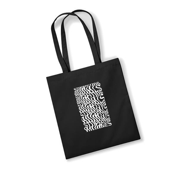 PLANT FACED CLOTHING: Tote Bags - Illusions Tote Bag - Stop Eating Animals - Black, Vegan Clothing