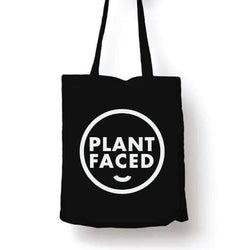 PLANT FACED CLOTHING: Tote Bags - Plant Faced Tote - 100% Organic Cotton Tote Bag, Vegan Clothing