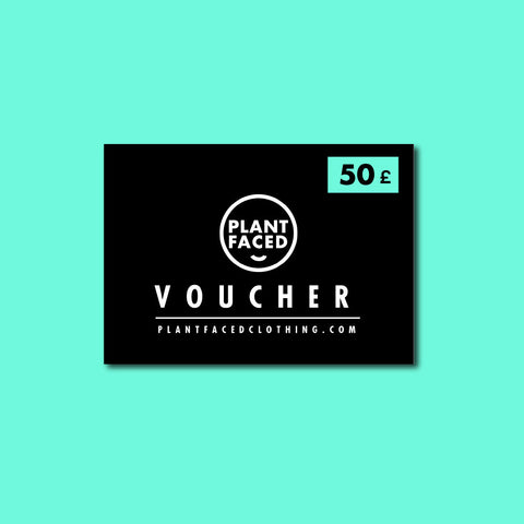 PLANT FACED CLOTHING: Gift Cards - Plant Faced Gift Card £50, Vegan Clothing