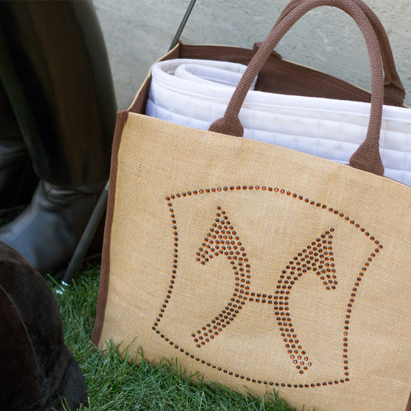 Hanoverian Tote Bag With Amber Rhinestones