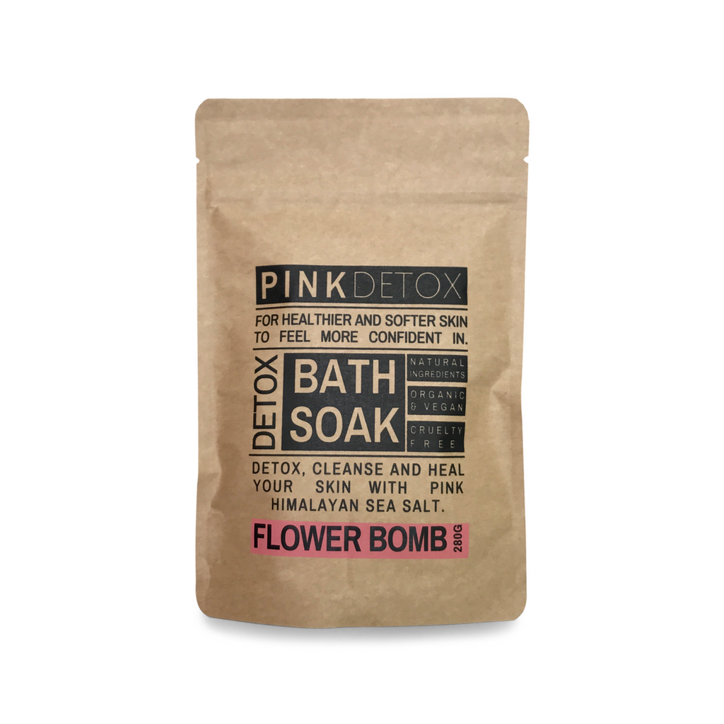 Pink Detox bath soak benefits Ginger Bath
