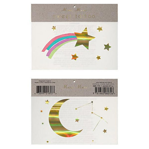 Meri Meri UK Temporary Tattoo Set Large - Rainbow Shooting Star - Tea Pea Home