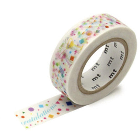 Kamoi Kakoshi Japan MT Washi Tape - Cheers 15mm