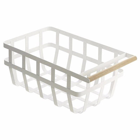 Yamazaki Japan Tosca Single Handle Storage Basket - Tea Pea