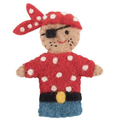 Pashom Nepal Felt Finger Puppet - Pirate - Tea Pea