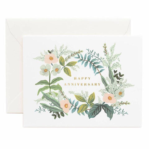 Rifle Paper US Card - Anniversary Bouquet - Tea Pea