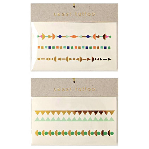 Meri Meri UK Temporary Tattoo Set - Geometric Colour - Tea Pea Home