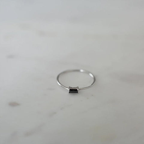 Sophie Ring  - You Rock Black & Silver - Tea Pea Home