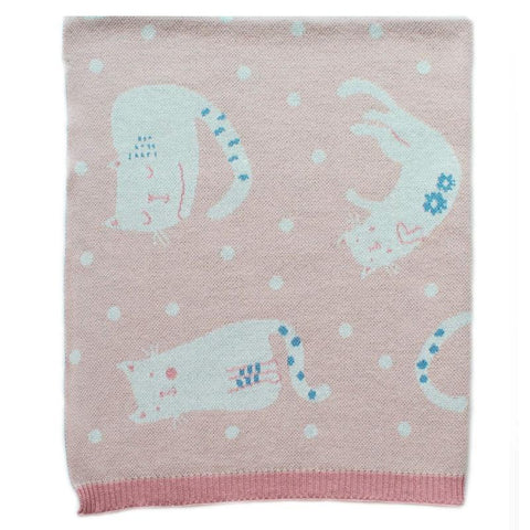 Cats at Play Baby Blanket - Tea Pea Home