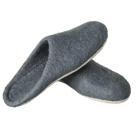 Bianca Lorenne Slide Slippers - Feruto Charcoal - Tea Pea Home