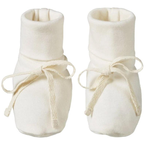 Nature Baby Organic Cotton Booties - Natural - Tea Pea Home