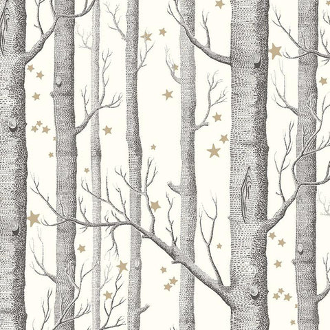 Cole & Son Wallpaper - Wood & Stars - Tea Pea