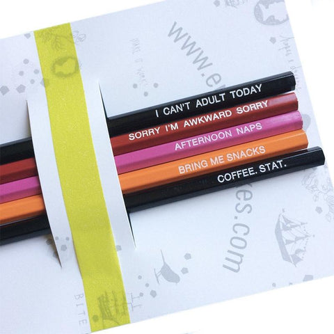 Emma Makes Pencil Pack - I Can't Adult Today - Tea Pea Home