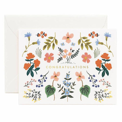 Rifle Paper US Card - Wildwood Congrats - Tea Pea Home