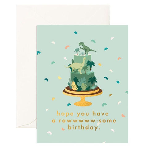 Fox & Fallow Card - Raw-Some Birthday - Tea Pea Home
