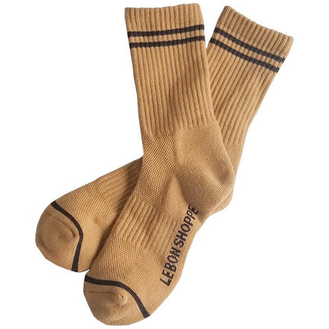 Le Bon Shoppe LA Boyfriend Socks - Biscotti - Tea Pea Home