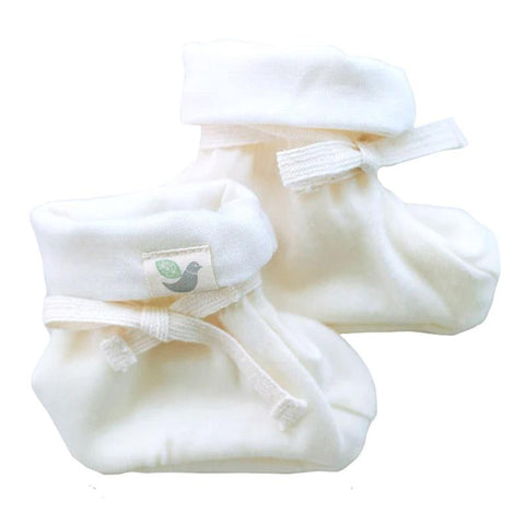 Roots & Wings NZ Organic Merino Booties - Natural - Tea Pea Home