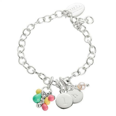 Little Kirstin Ash Charm Bracelet Chain - Sterling Silver - Tea Pea