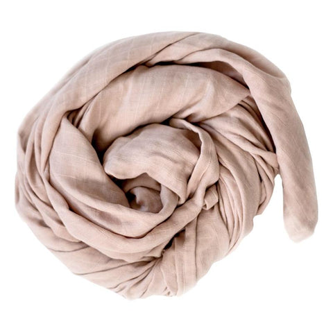 Burrow & Be Essentials Muslin Wrap - Dusty Rose