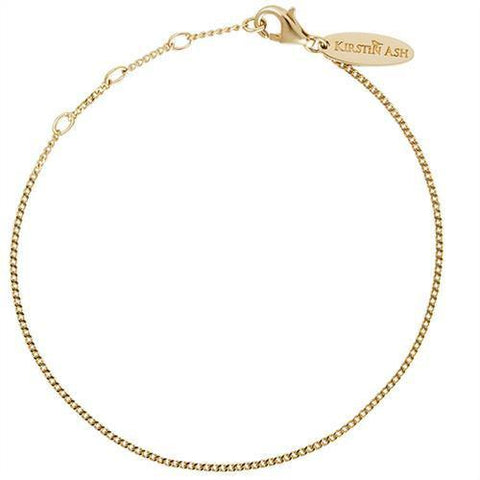 Kirstin Ash Bespoke Adjustable Curb Bracelet - 18k Gold Vermeil - Tea Pea