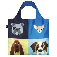 Loqi Berlin Reusable Shopping Bag - Cats & Dogs Collection Dogs - Tea Pea Home
