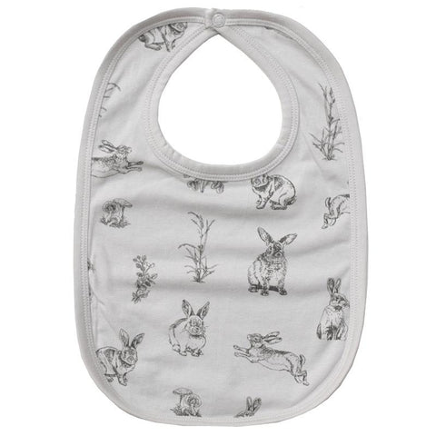Burrow & Be Essentials Bib - Burrowers Grey - Tea Pea Home