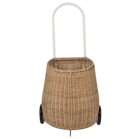 Olli Ella Adult Luggy Basket - Tea Pea