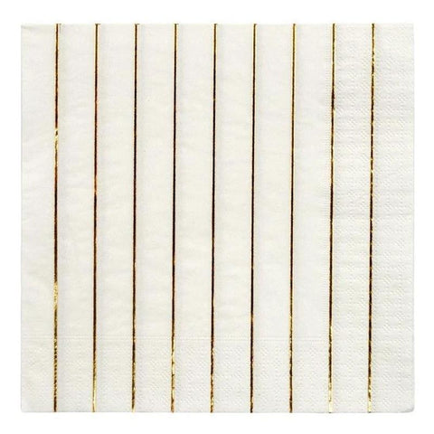 Meri Meri UK Napkins - Gold Stripe Large - Tea Pea Home