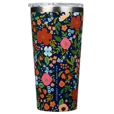 Corkcicle X Rifle Paper Insulated Tumbler - Wild Rose - Tea Pea Home