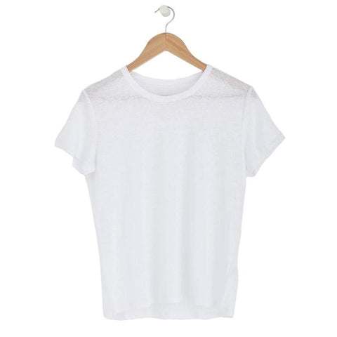 Laing Linen Tee - White - Tea Pea Home