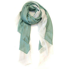 Double Sided Modal Scarf - Seafoam & White - Tea Pea Home