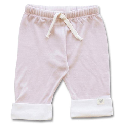 Roots & Wings NZ Organic Merino Drawstring Pants - Dusty Rose