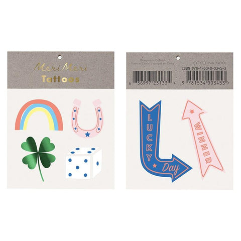 Meri Meri UK Temporary Tattoo Set - Lucky - Tea Pea