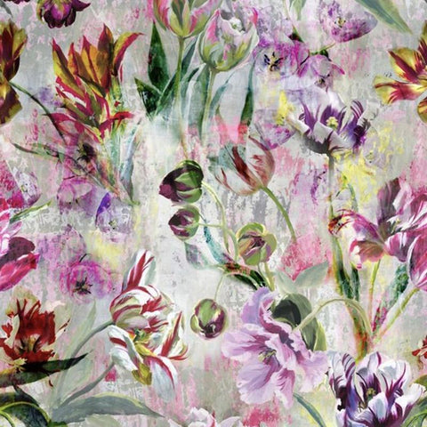 Designers Guild UK Wallpaper - Tulipa Stellata Fushsia - Tea Pea