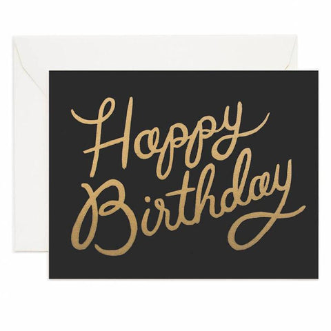 Rifle Paper US Card - Shimmering Birthday