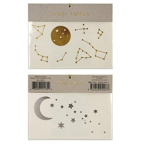 Meri Meri UK Temporary Tattoo Set Large - Moon & Stars - Tea Pea Home