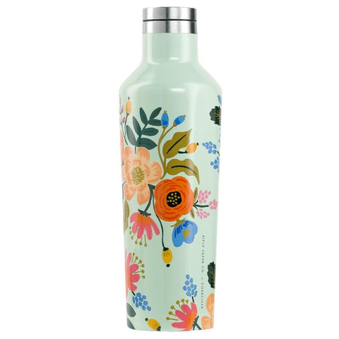 Corkcicle x Rifle Paper Canteen - Mint Lively Floral - Tea Pea Home
