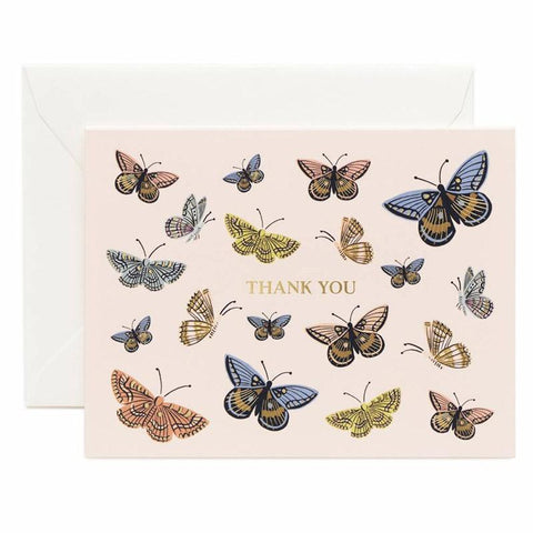 Rifle Paper US Card - Monarch Thank You - Tea Pea