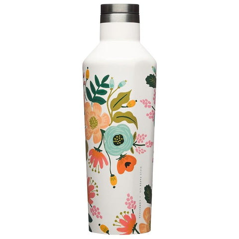 Corkcicle X Rifle Paper Canteen - Cream Lively Floral - Tea Pea Home