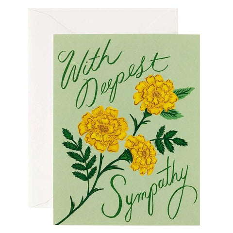 Rifle Paper US Card - Marigold Sympathy - Tea Pea Home