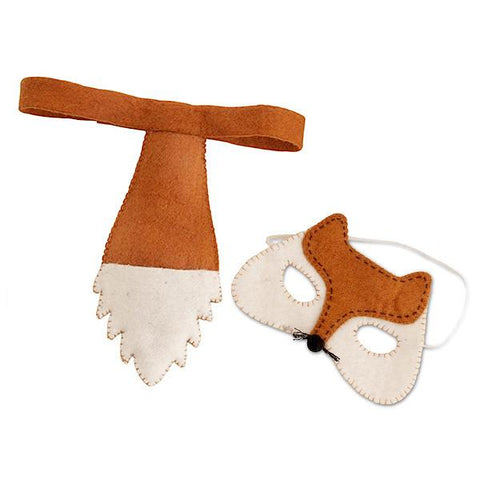 Pashom Nepal Felt Mask & Tail Set - Fox